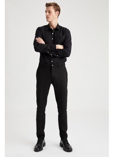 DeFacto Tek Cepli Modern Fit Gömlek Siyah